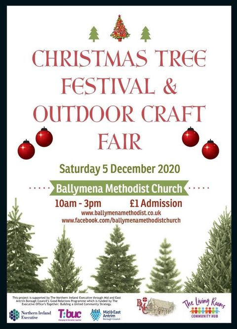 Christmas Tree Festival and Outdoor Craft Fair at Ballymena Methodist Church