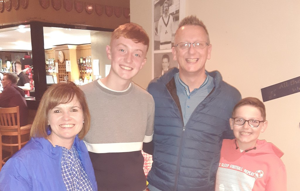 Team McCaw express thankfulness for God's goodness in Mayo Street, Belfast