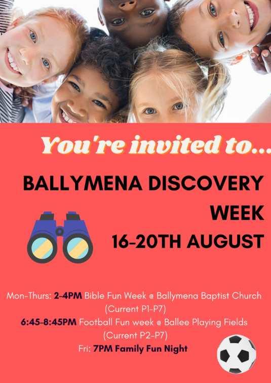 Kids Discovery Week at Ballymena Baptist Church
