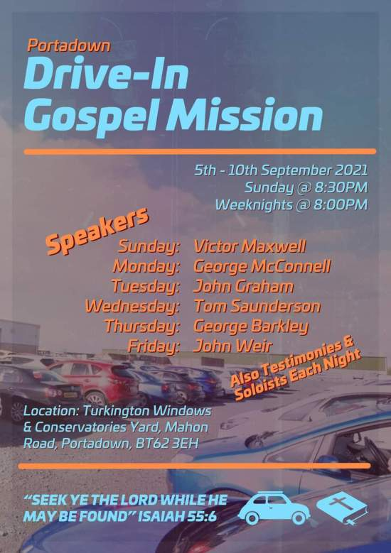 Drive-In Gospel Mission -Mahon Road, Portadown