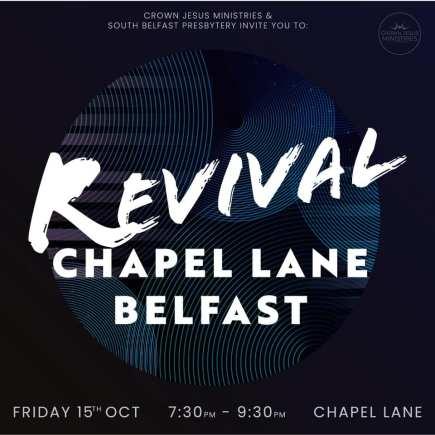 Crown Jesus Ministries launch Revival Chapel Lane Project