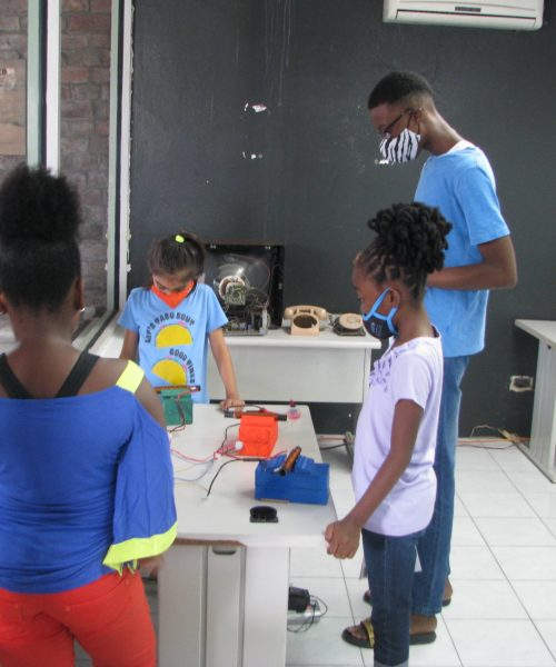 Campers Engage In Science Projects