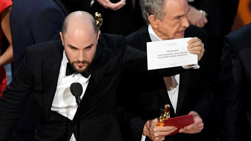 Watch the Shocking Moment When La La Land Was Awarded Moonlight's Best Picture Win
