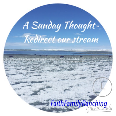 A Sunday Thought~ Redirecting Our Stream