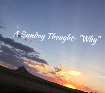 "A Sunday Thought~ ""What's My Why"""