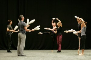 The '4 X 4' company in rehearsal IMAGE: Dan Pickard