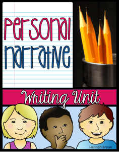 personal narratives unit