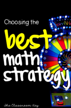 It's not enough to teach kids how to use a math strategy, they also need to know WHEN to use it