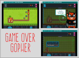 Teaching Coordinate Graphing, Game Over Gopher