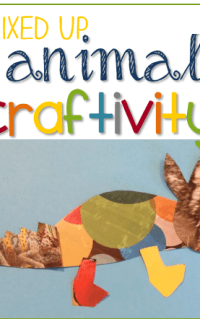 FREE Mixed Up Chameleon craftivity