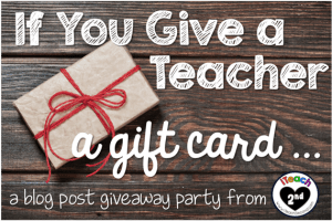 If you give a teacher a gift card...
