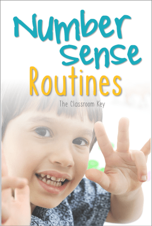 number sense activities especially for 1st and 2nd grade math classrooms