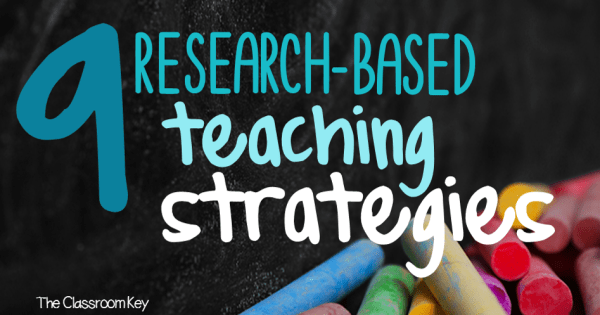 9 Research-Based Teaching Strategies