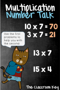 Multiplication Number Talk, a strategy for building number sense in just 10 minutes a day