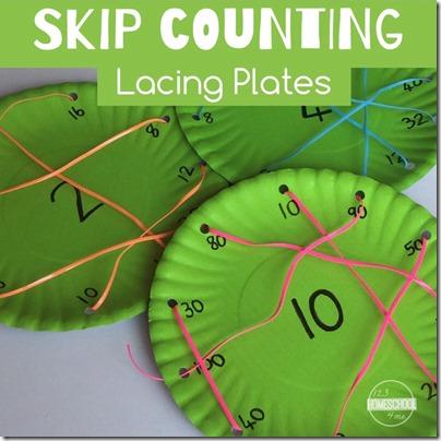skip counting lacing plates