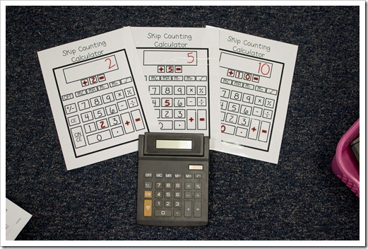 skip counting with calculators
