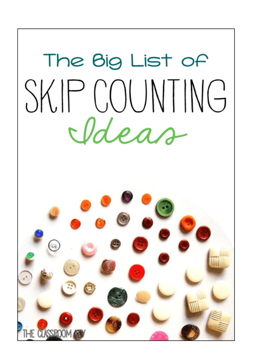 The Big List of Skip Counting Activities