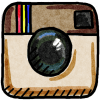 instagram doodle icon color