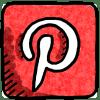 pinterest doodle icon color