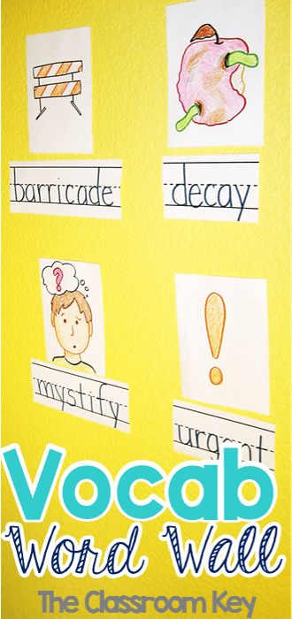 How to implement a vocabulary word wall in your classroom