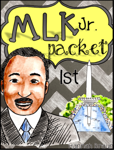 Martin Luther Kind Jr. Day Activities ($) No-prep reading, writing, and math activities for honoring the life of MLK Jr. in the first grade classroom