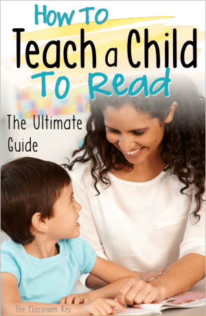 How to Teach a Child to Read, The Ultimate Guide, A step-by-step process for parents and teachers that want to help children learn to read, perfect for homeschool, preschool, kindergarten, and first grade #literacy #learntoread #homeschool #preschool #kindergarten #1stgrade