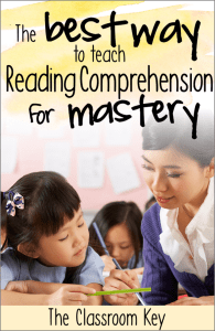 The Best Way to Teaching Reading Comprehension for Mastery - Find out how to use the gradual release teaching method to effectively teach reading strategies in the elementary classroom #readingcomprehension #literacy #3rdgrade