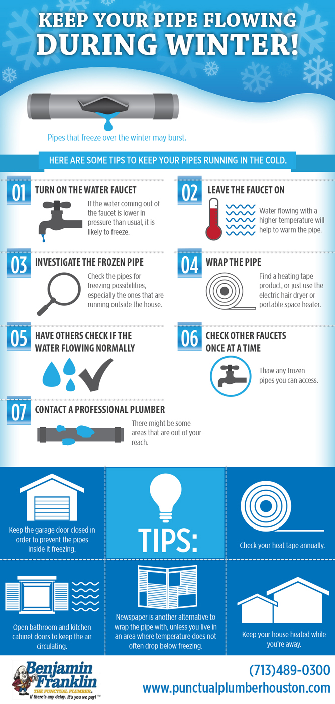 Preventing Frozen Pipes Infographic