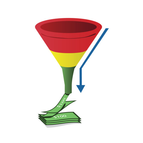 http://www.dreamstime.com/royalty-free-stock-photography-red-yellow-green-sales-funnel-arrow-image19594157