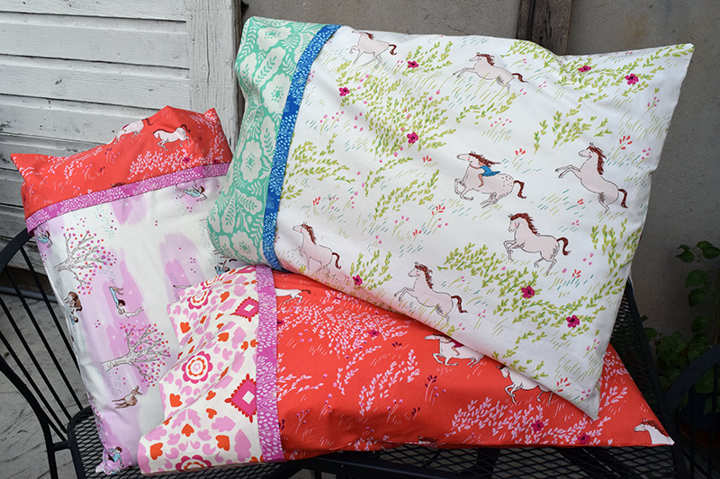 Burrito Pillowcase with One Way Fabrics 3