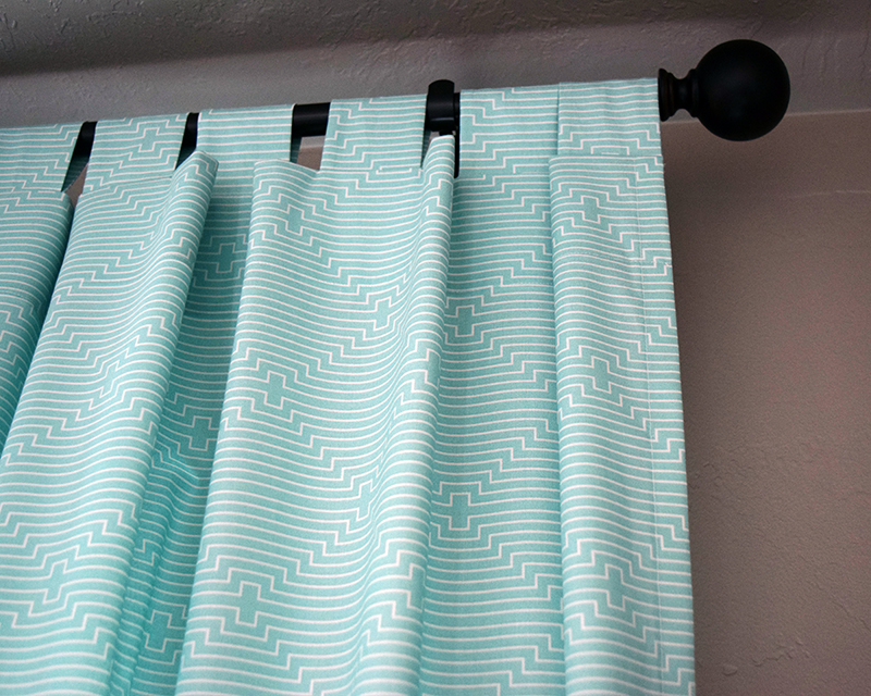 DIY Tab Top Curtain Tutorial