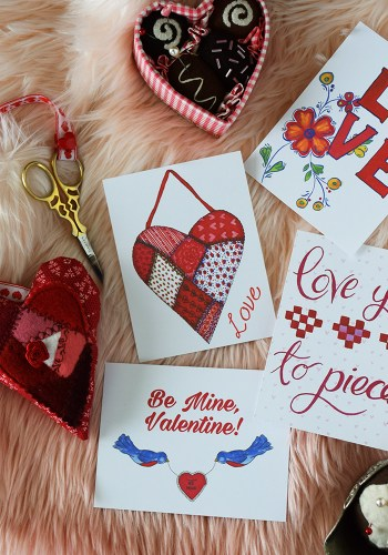 Design Freebies: Printable Valentine's Day Cards