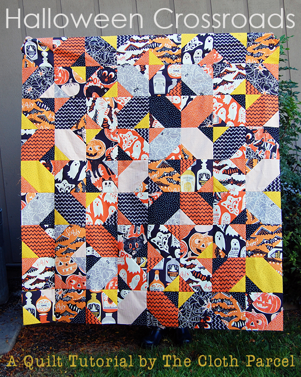 Halloween Crossroads Quilt Tutorial by The Cloth Parcel