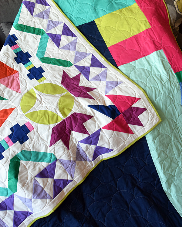 Maiden Medallion Quilt front and back