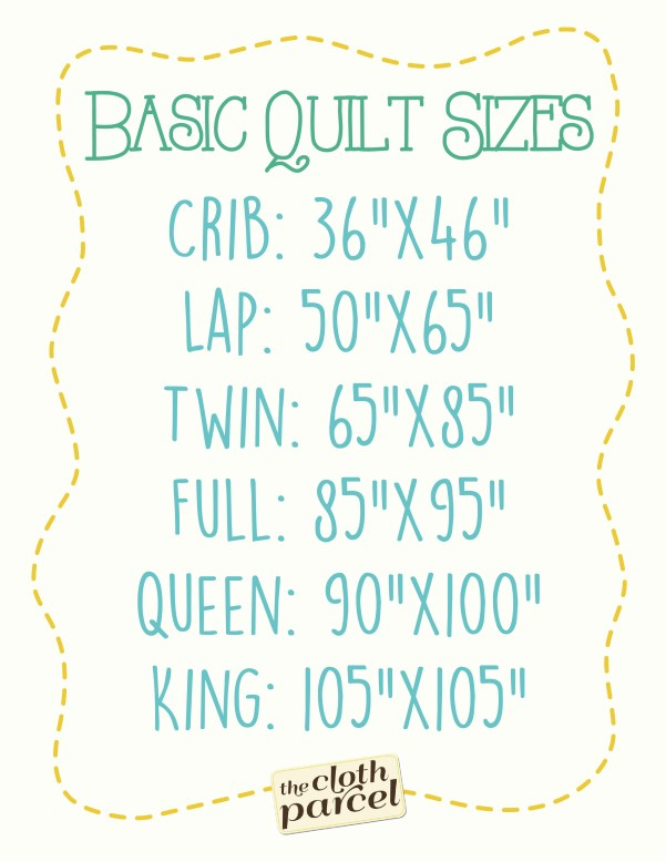 Quilt Sizes Printable