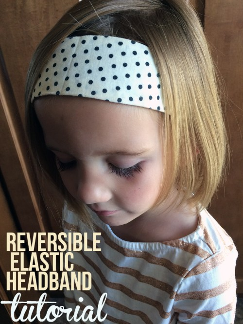Reversible Elastic Headband Tutorial