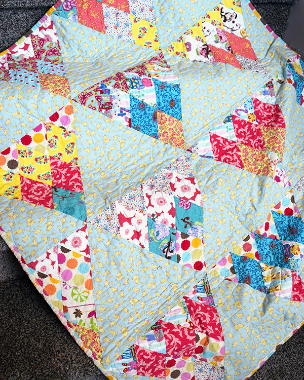 Scrappy Pennant Baby Quilt 2