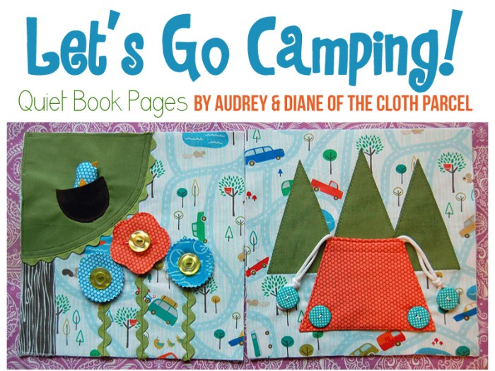 lets go camping quiet book