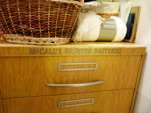 McCall's Pattern Cabinet
