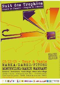 Nuit des Trophées 2005 @ Tour & Taxis le 3 décembre 2005