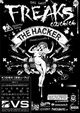Last Freaks @ Kiosk (Lille) le 2 juin 2006 avec The Hacker