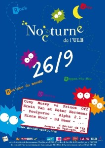 La Nocturne de l'ULB fête ses 4 ans, aux sons de l'electro ce 26 septembre 2007