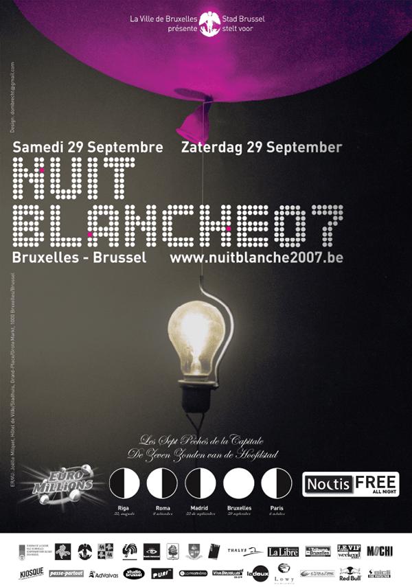 Nuit Blanche 2007 @ Bruxelles le 29 septembre, l'électronique à la cote
