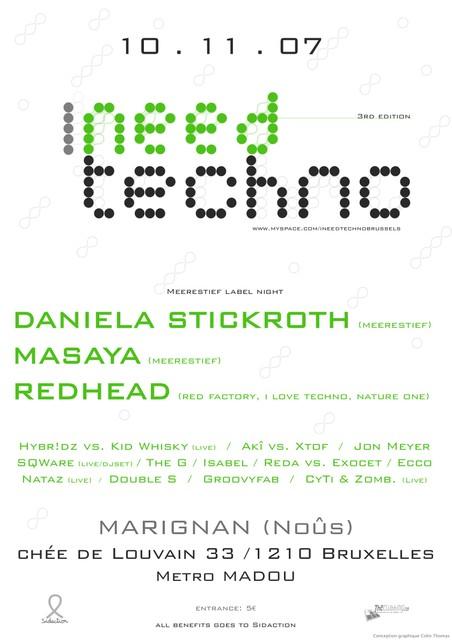 I Need Techno @ Marignan (Noûs) (Bruxelles) le 10 novembre 2007 (Events)