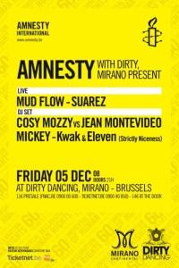 Amnesty International fête le 60e anniversaire de la Déclaration universelle des Droits de l'Homme au Mirano Continental le 5 décembre 2008