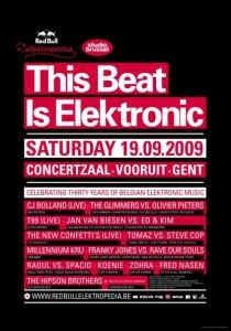 Ce 19 septembre, le beat sera électronique au Vooruit