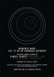 La première édition de Memento Mori le 12 septembre au Schietgang (Fort 8) à Hoboken