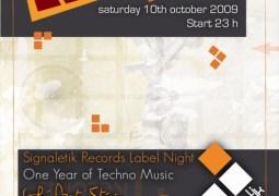 Signaletik Records Label Night ce 10 octobre 2009 au Café Bota Stéréo avec Mark Broom