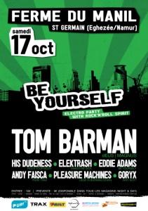 Soyez Be Yourself le 17 octobre à la La Ferme du Manil à Eghezée