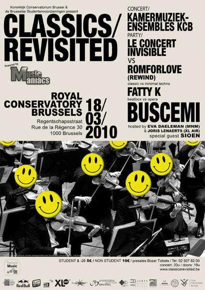 Revisiter les classiques à Bruxelles ce 18 mars au Koninklijk Conservatorium Brussel